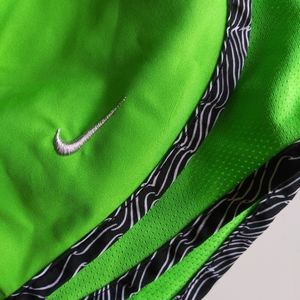 Nike Dri Fit Lime Green Running Shorts XS